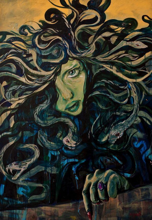 Medusa   (Painting by Rodrigo Pradel)