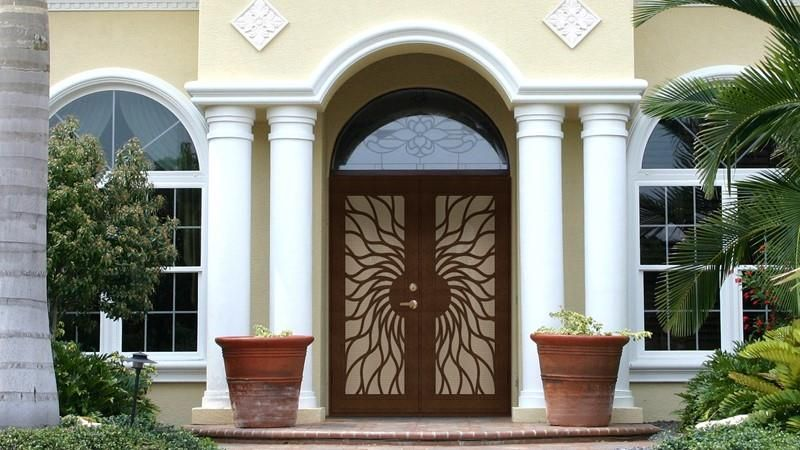 Titan Premium Security Doors Are Custom Built To Last With A Minimum Of Upkeep They Are The Only Security Doors Built From An Arch Security Storm Doors Security Screen Security Door