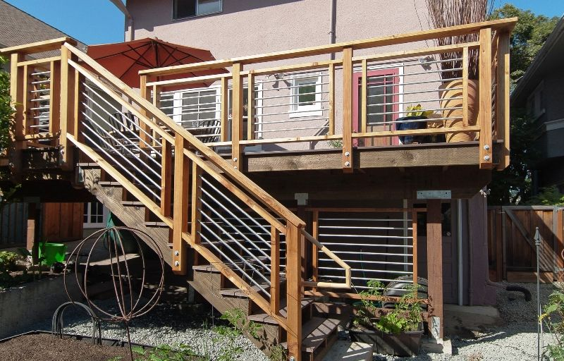 horizontal deck rail ideas - Google Search | Deck stair ...
