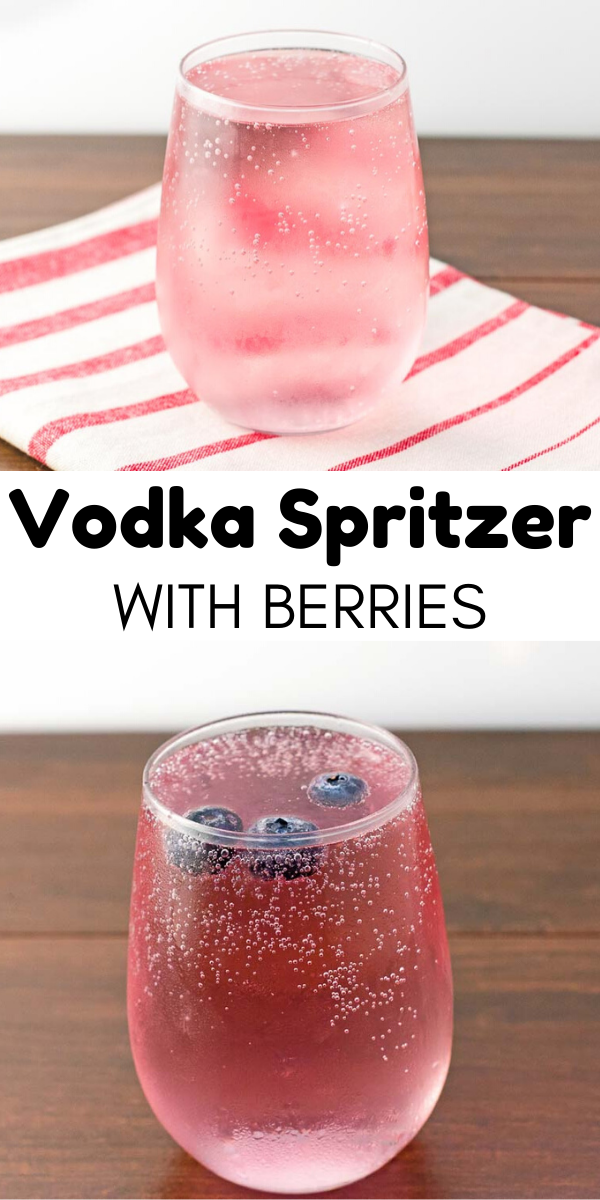 Vodka Spritzer With Berries