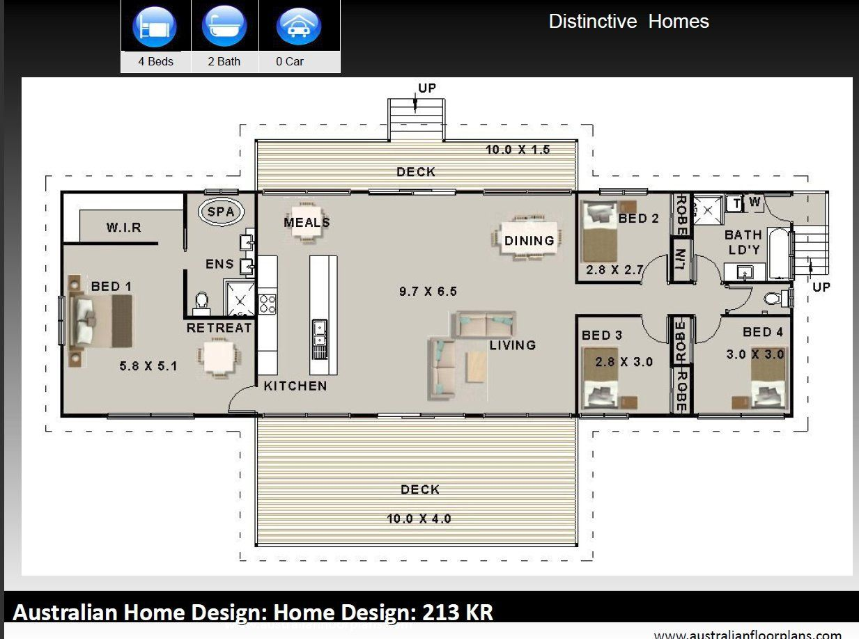 211 5 M2 Australian 4 Bed 2 Bath Concept Home Plans For Sale On Stumps And Timbe Four Bedroom House Plans Australian House Plans 4 Bedroom House Plans