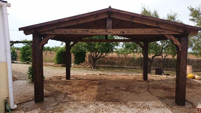 Gazebo Carport Fuente Alamo Murcia Pergola Terrasse Amenagement Exterieur Pergola Aluminium