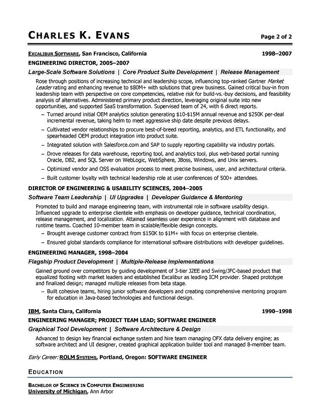 resume software consultant examples Resume Review Pinterest - software engineering resume