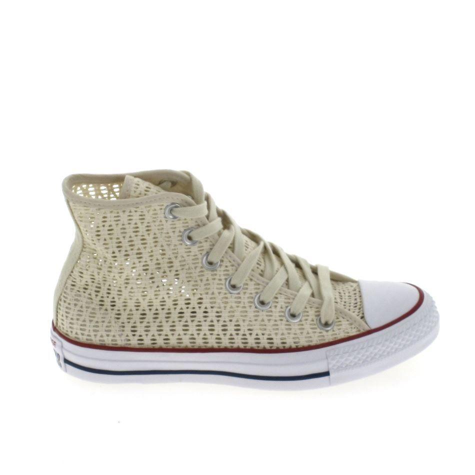 Converse Chaussures All Stars CT Hi Chausseres Femme Blanc Cuir 146632 Converse soldes B4xCdN44N