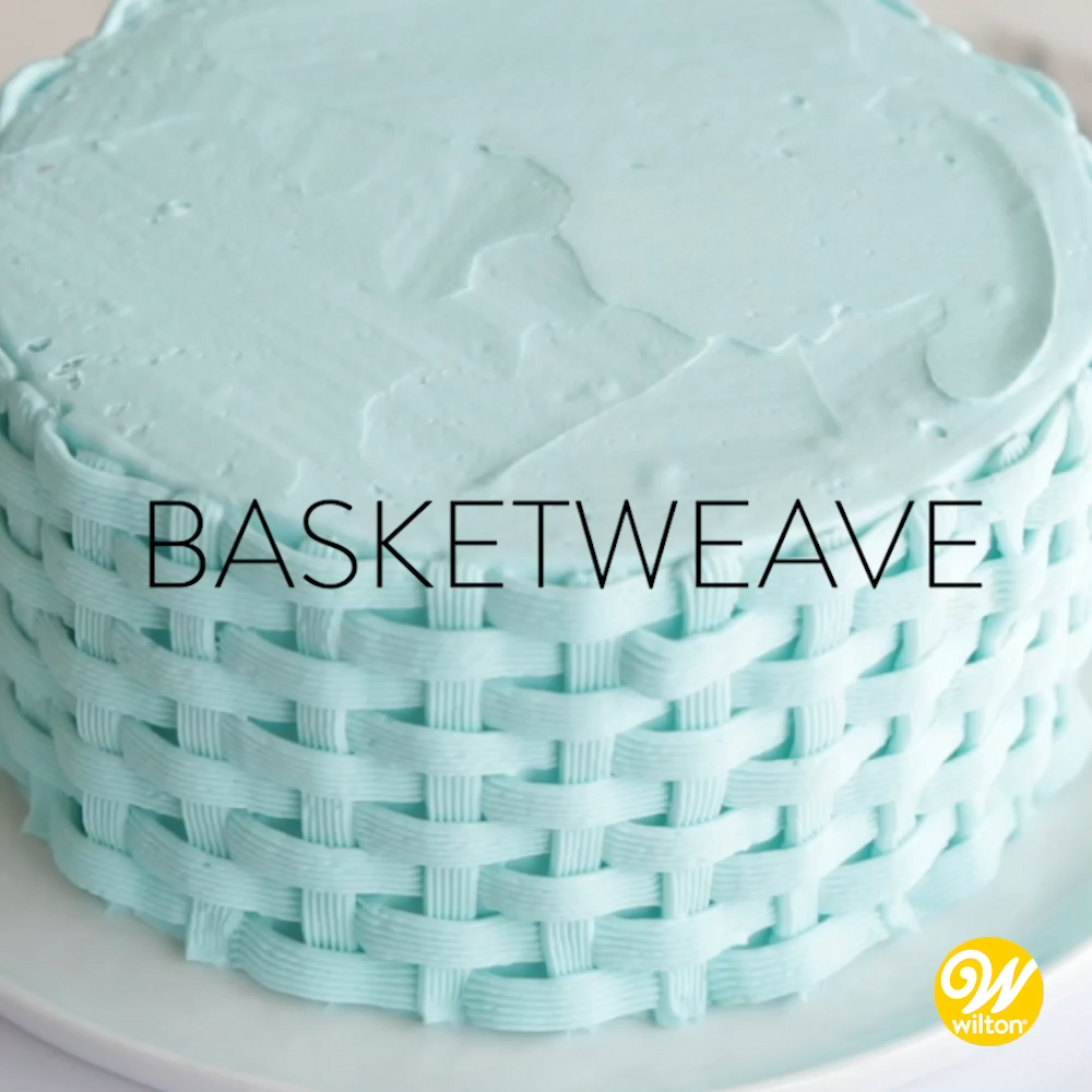 How to Pipe A Buttercream Basketweave Cake Design