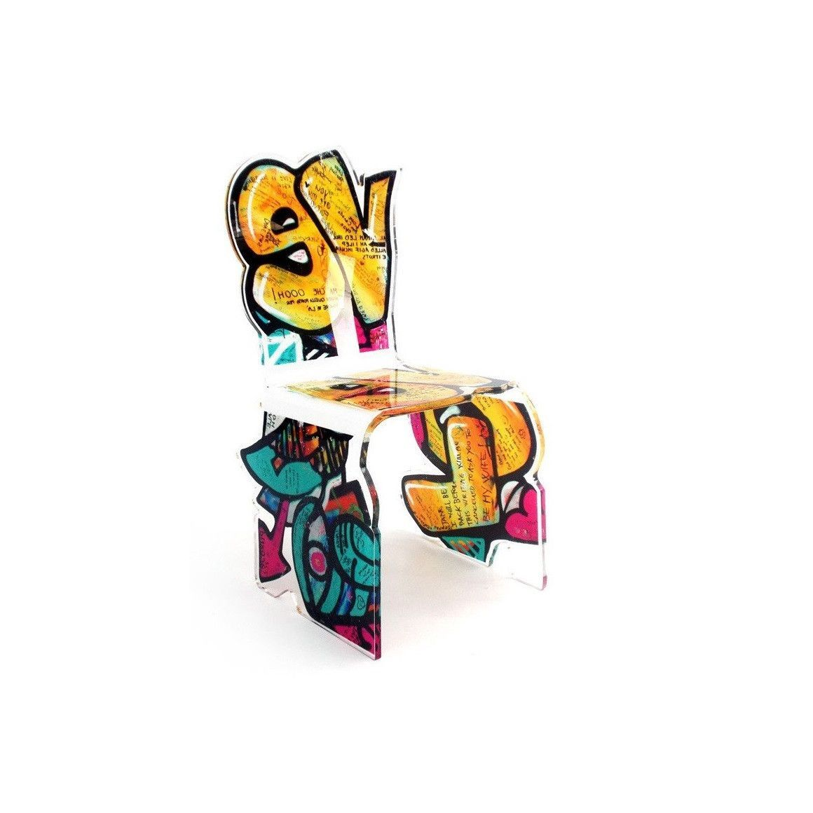 Acrila street art chair yellow products
