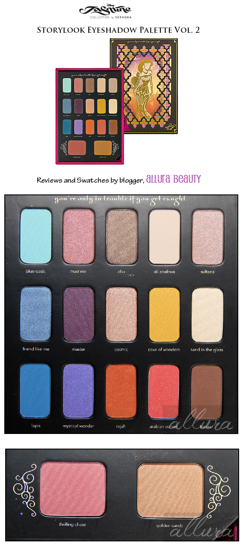 disney jasmine by sephora storylook eyeshadow palette vol 2
