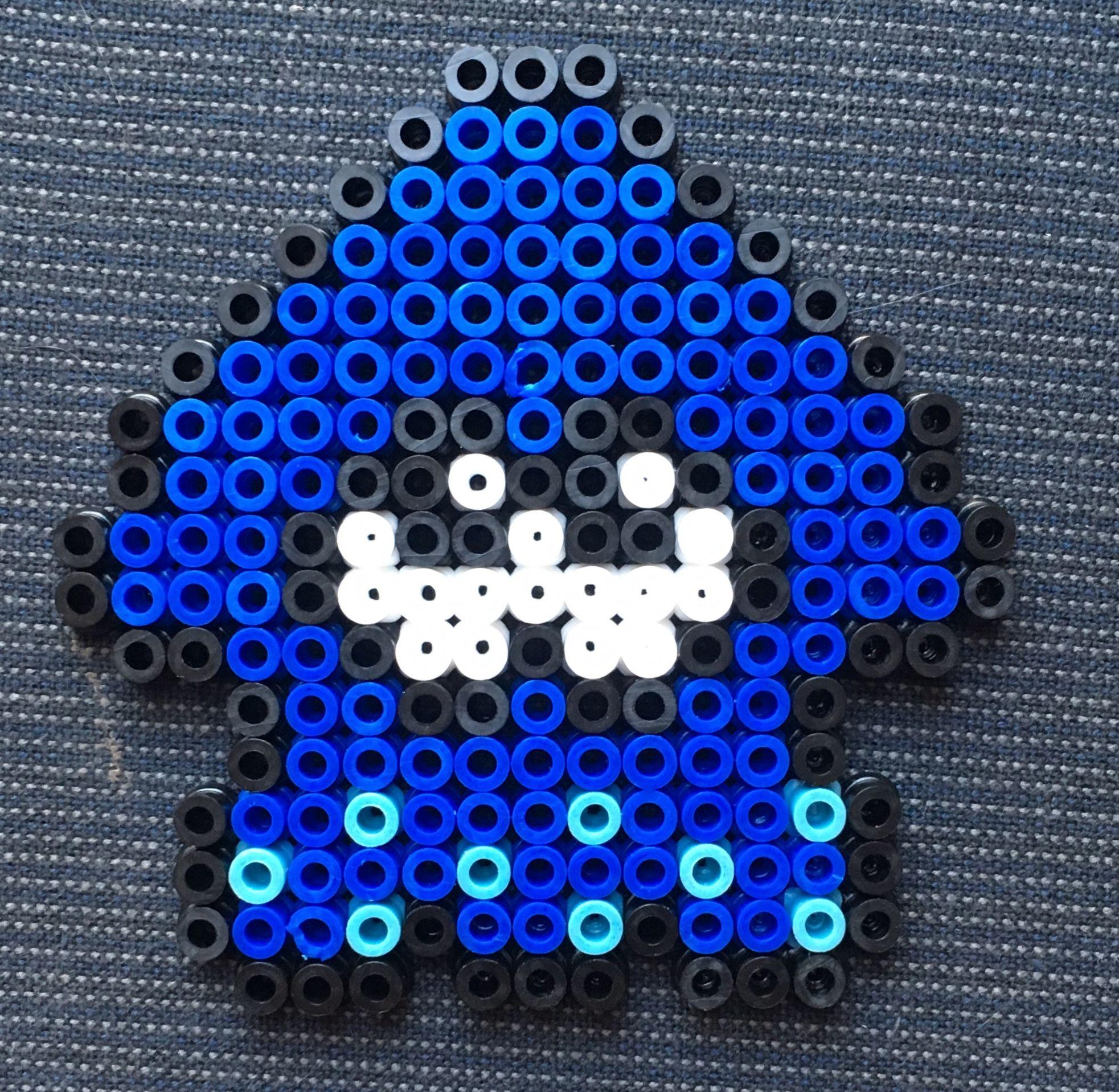 Pixel Art Dun Squid De Splatoon Melting Beads Perler