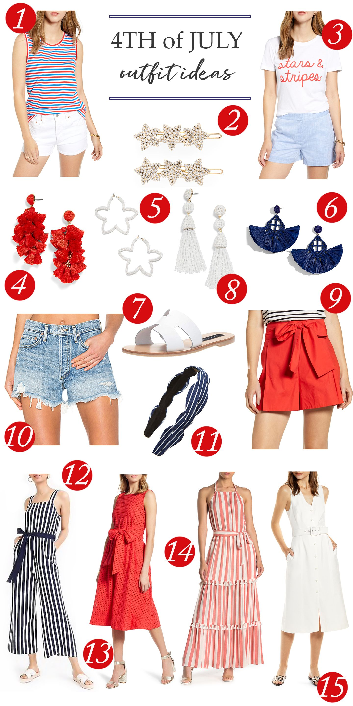 Festive Outfits For The 4th Of July Spring Outfits Casual Festival Outfits Clothes For Women