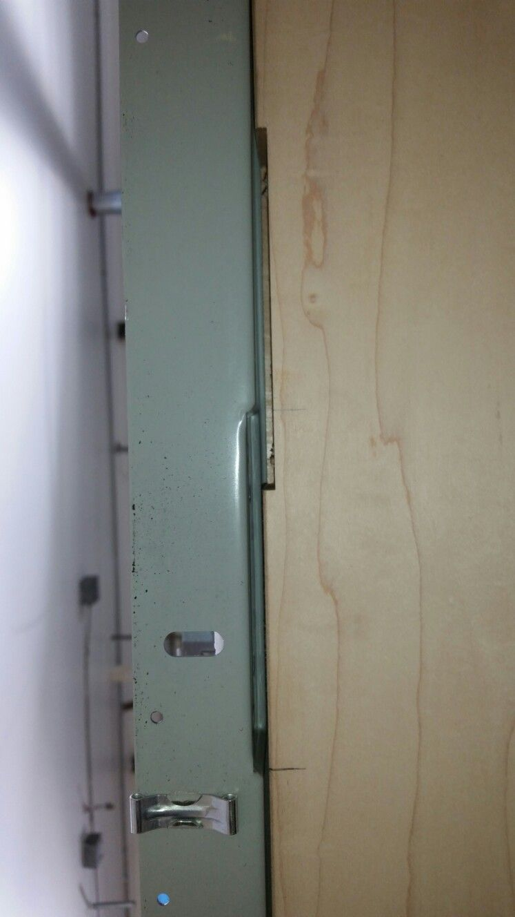 Manufacturer error, had to resize and remortize the door to the ...