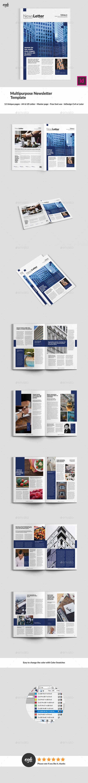 Blue Multipurpose Newsletter Pinterest Newsletter Templates