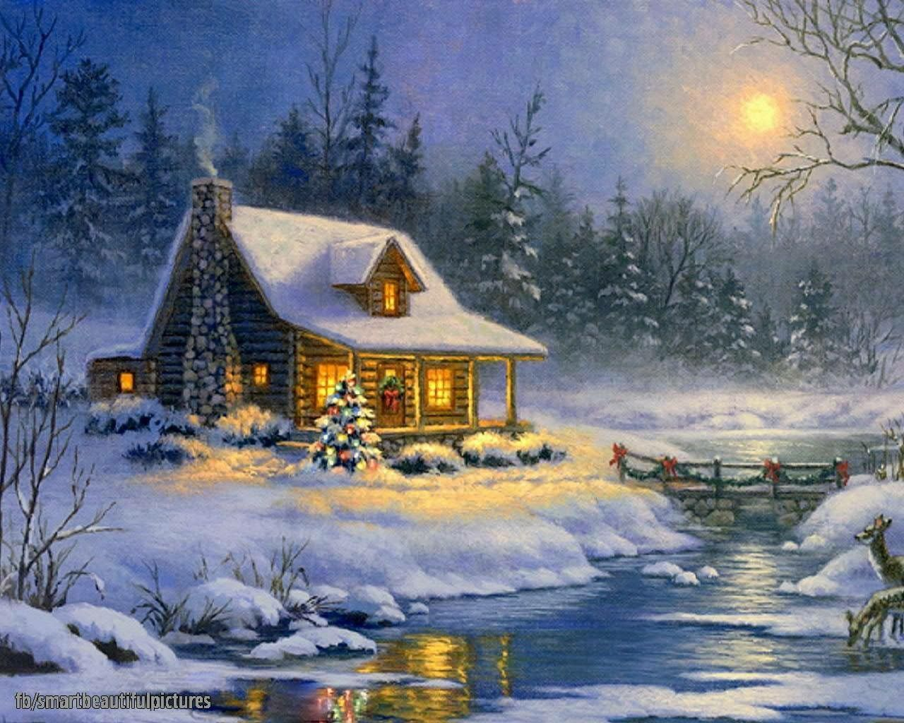 Анимационная картинка домик лесника в зимний период портретов нужно