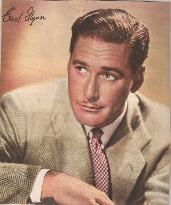 Signed Errol Flynn Photos, 1940's