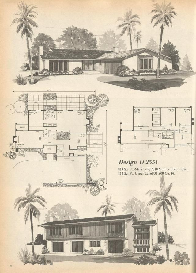 House Designs Photos Of Models Building Exterior Design: Vintage House Plans, Mid Century Homes, 1970s Floor Plans