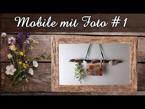 Tolles Mobile aus Weide mit Muscheln & Foto #1   Schöne persönliche Geschenkidee & Sommerdeko   DIY - YouTube