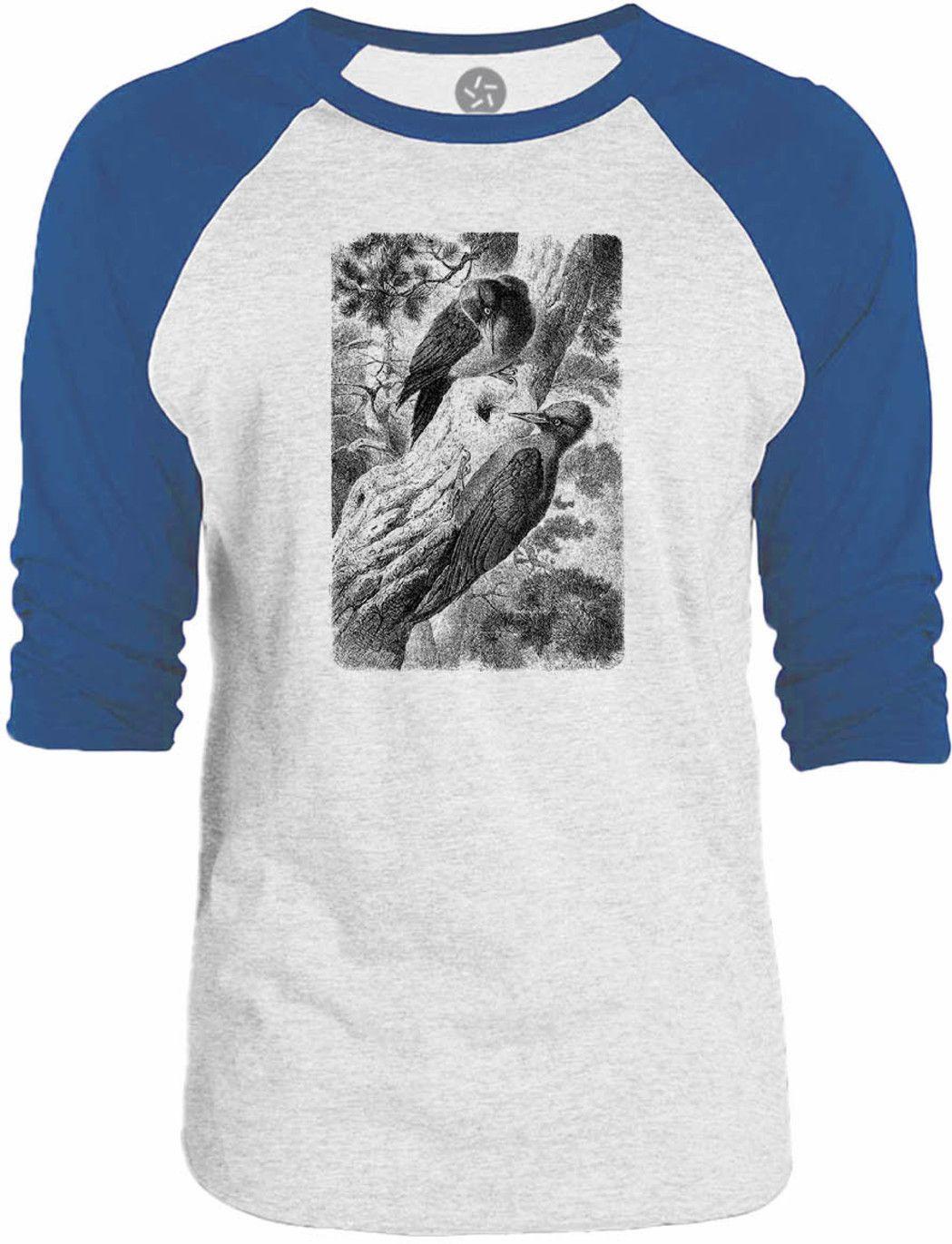 Big Texas Wild Woodpecker 3/4-Sleeve Raglan Baseball T-Shirt