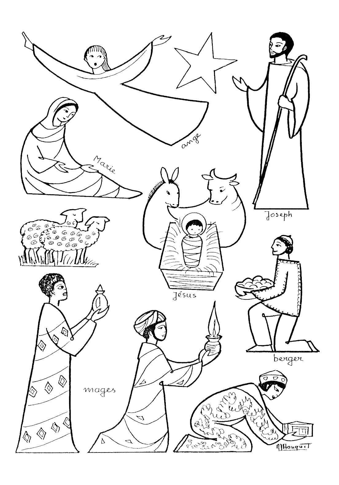 Personnage De Creche A Faire Soi Meme : personnage, creche, faire, Différents, Personnages, Crèche, Colorier, Partir, Galerie, Creche, Noel,, Noël, Imprimer,, Coloriage