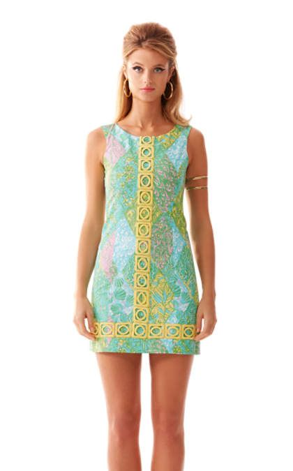 Mila Lace Detail Shift Dress | 95979 | Lilly Pulitzer