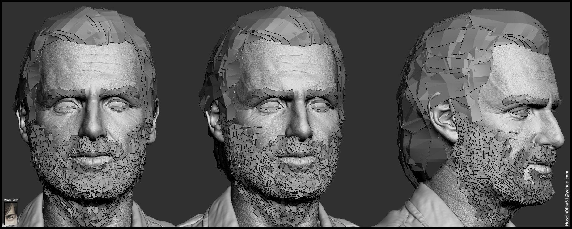 ArtStation - Real-time Rick Grimes model done for Fallout New Vegas mod, Hossein Diba