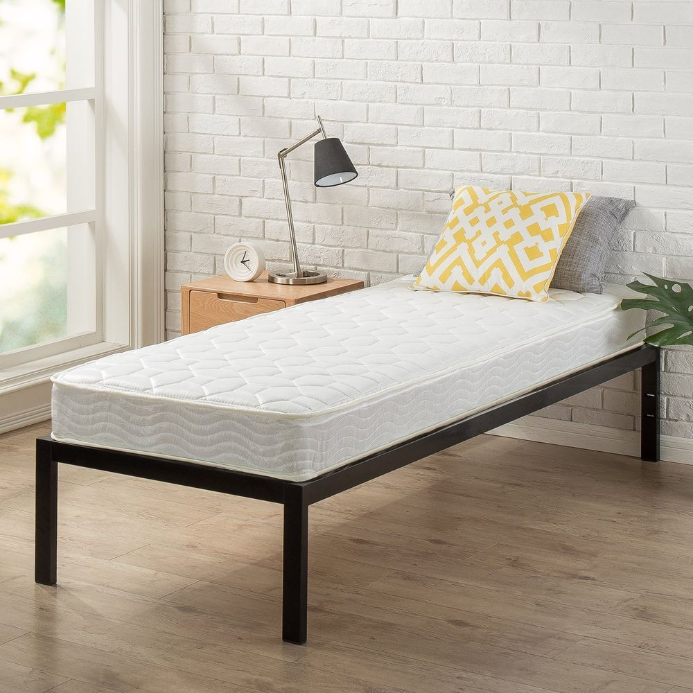 The Bonnell Spring System Is Made From Heavy Gauge Steel Coils To Provide Firm Support The Top Is Quilted With Layers O Bed Frame Mattress Guest Bed Bed Frame
