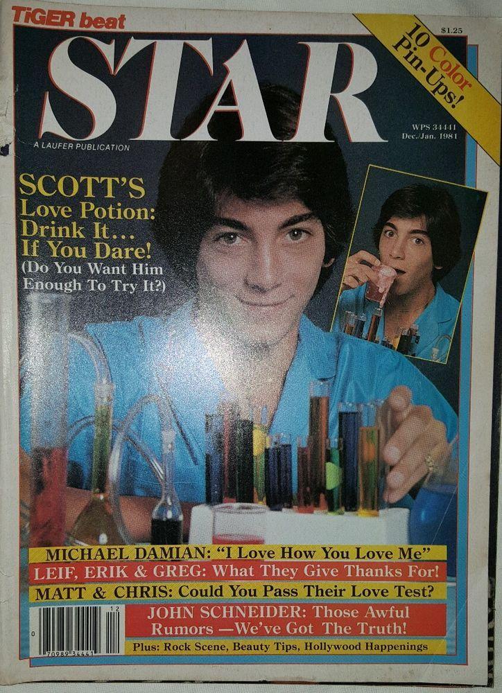 Vintage Tiger Beat Star magazine Jan/Dec 1981
