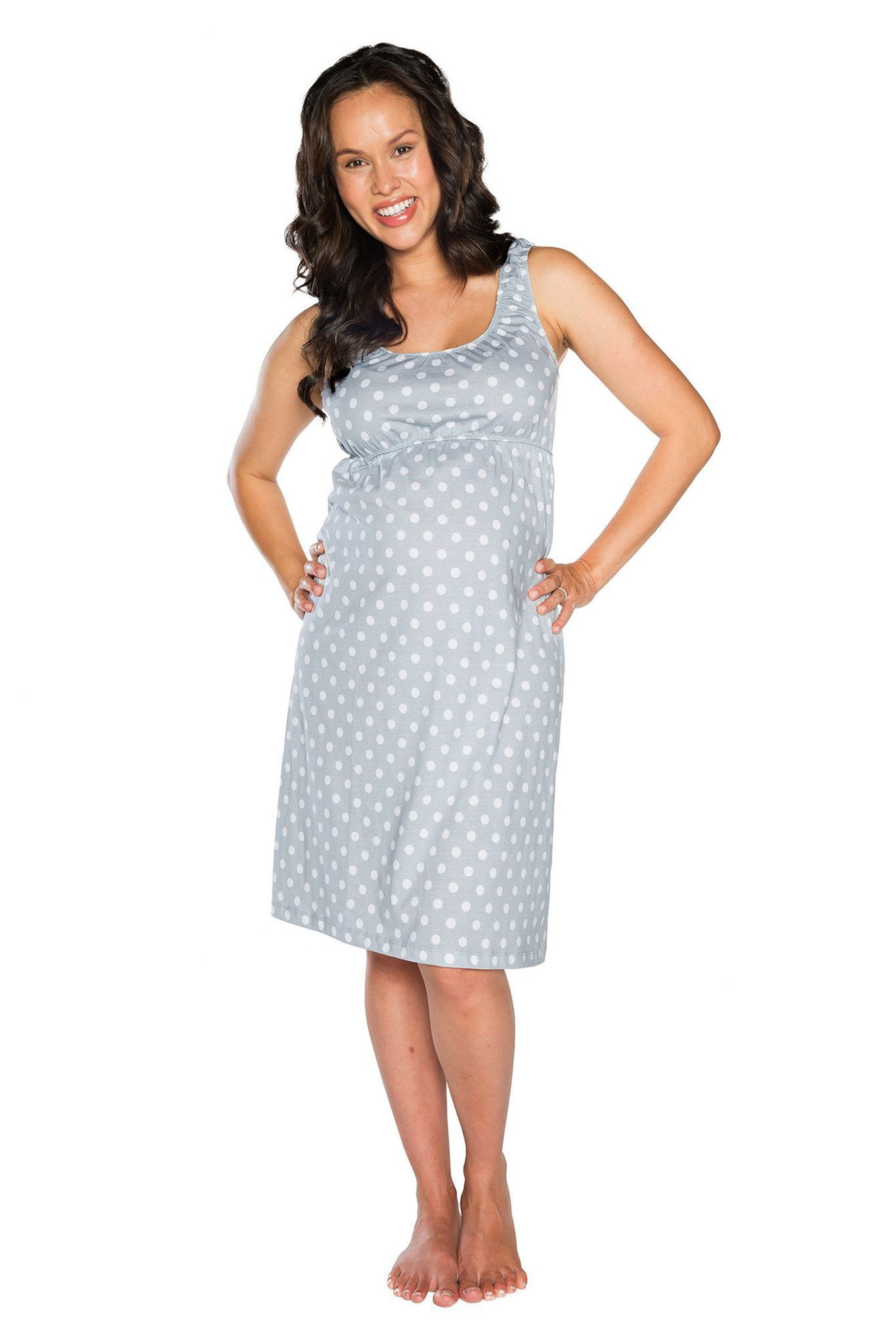 3457e30cf828 Lisa Maternity   Nursing Sleeveless Nightgown  babynightgowns