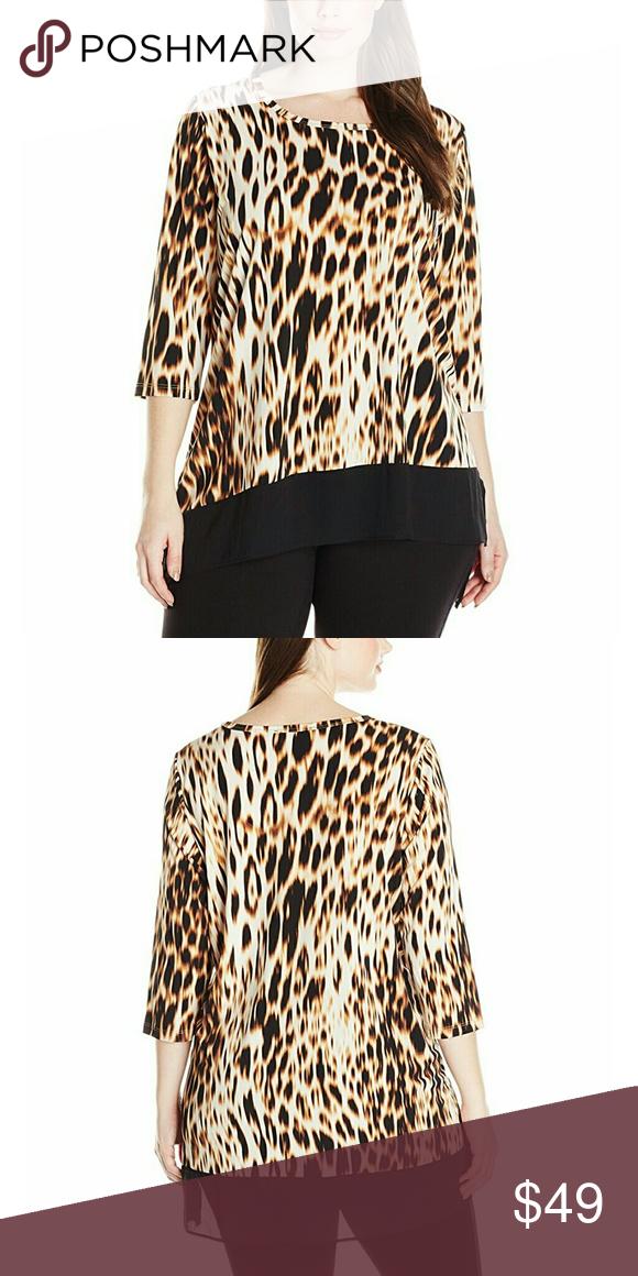 Karen KANE Plus Size Top 96% Polyester, 4% Spandex Hand Wash Scoop neck 3/4 sleeve Karen Kane Tops