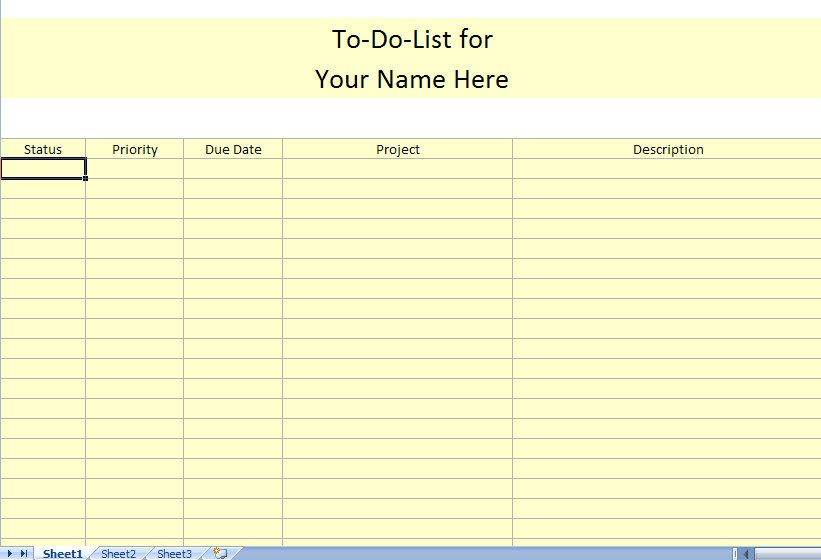 To Do List Printable  Use Printable To Do Lists To Get Organized
