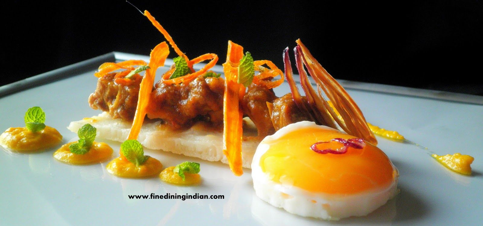 Check out this incredible indian slow braised lamb for Fine dining food