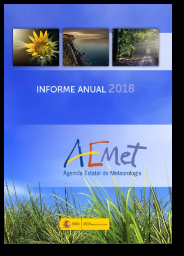 Informe Anual 2018 Agencia Estatal De Meteorología 2019 Meteorología Informe Anual Libros