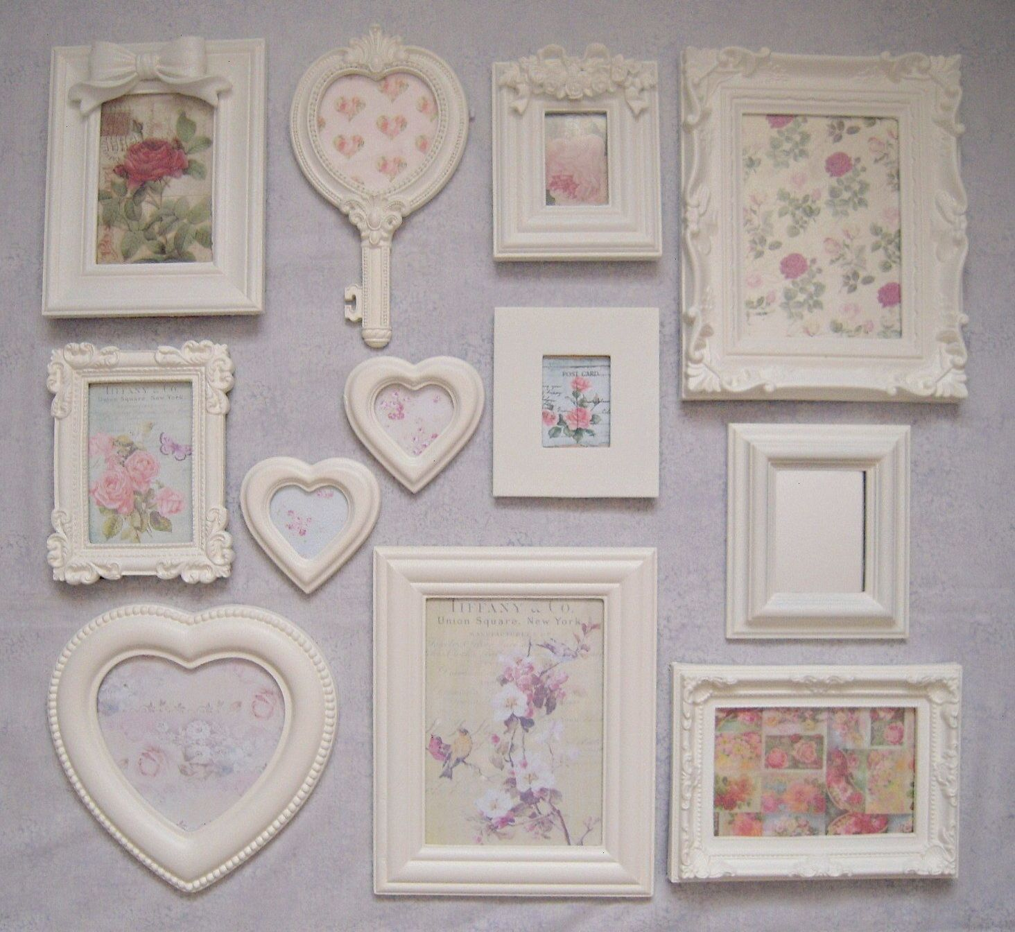 Shabby Chic Photo Frames Laura Ashley Country White Paint Vintage