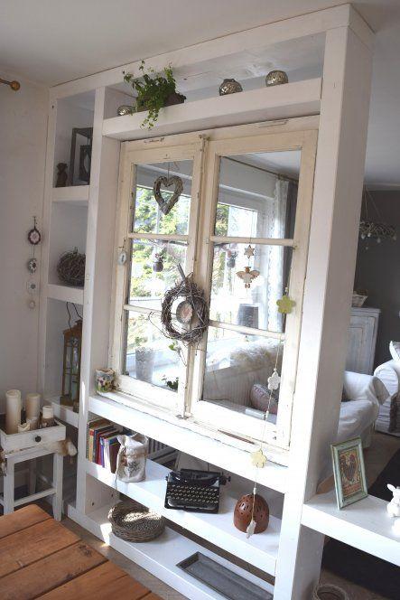 Raumteiler mit altem Fenster alte Fenster Pinterest Alte - esszimmer in der alten post weinheim