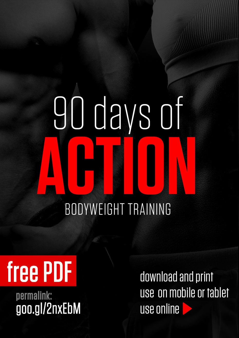 90 Days Of Action Workout Programs Fitness Diet Workout Training Programs