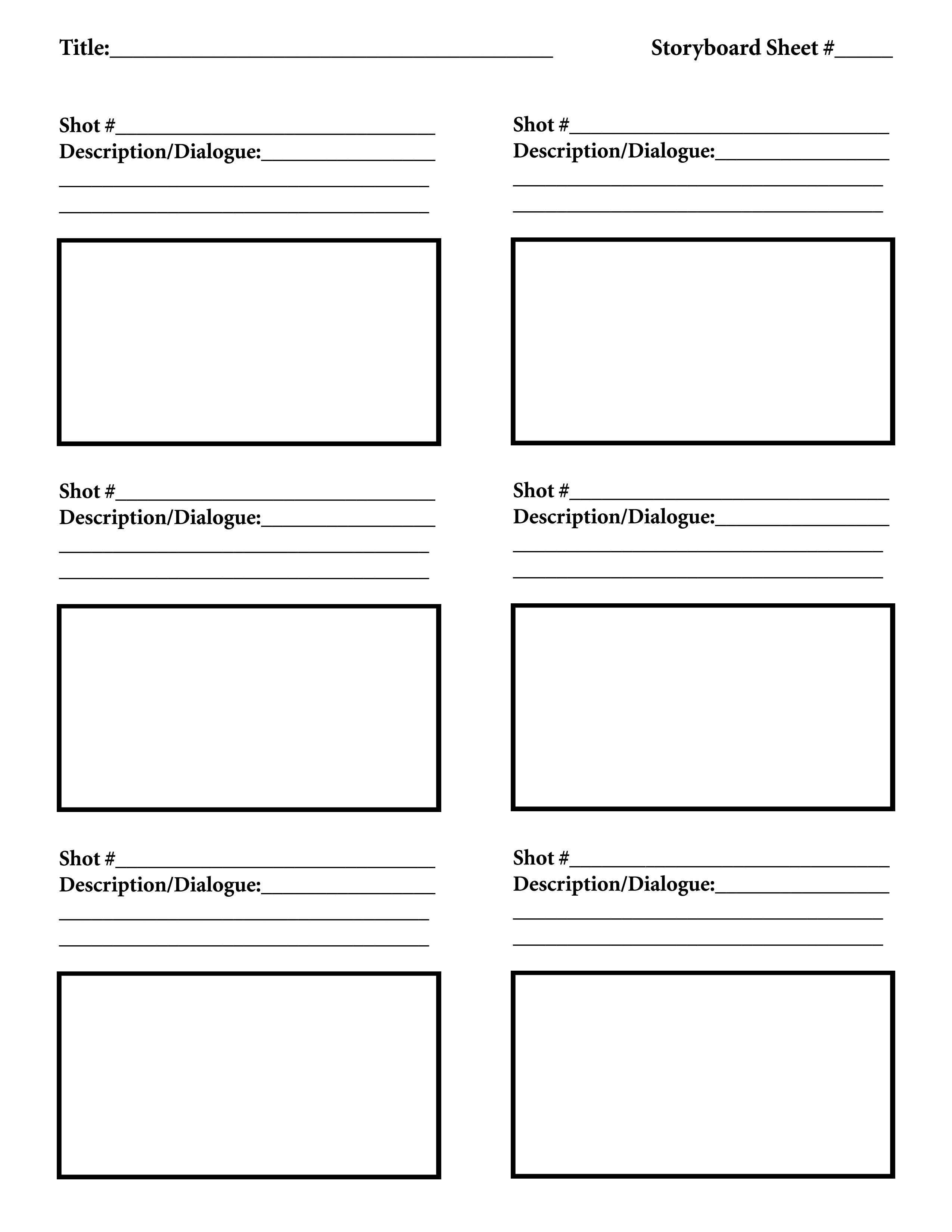 Scene planning template google search writing for Film storyboard template word