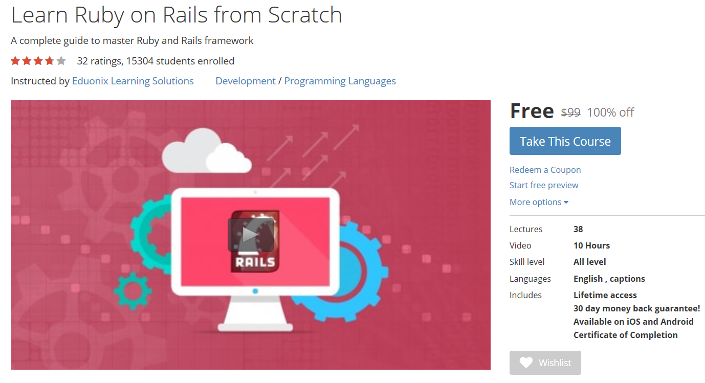 Udemy coupon free learn ruby on rails from scratch httpswww udemy coupon free learn ruby on rails from scratch baditri Images