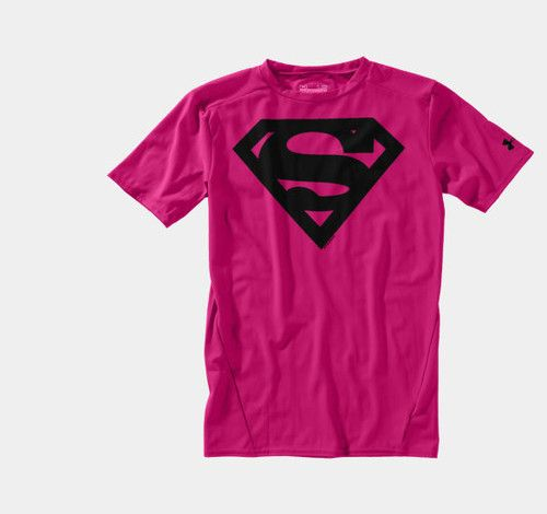 8374f449 Under Armour bg Alter Ego PINK Breast Cancer mens SUPERMAN compression shirt