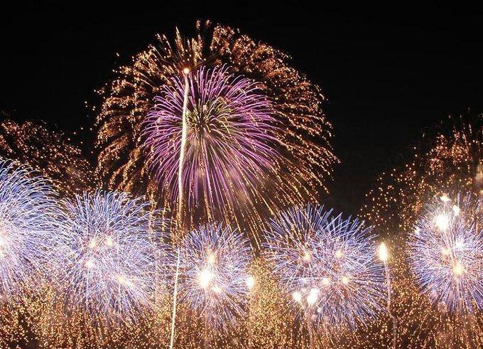 栃木県真岡市で開催される夏祭りの中日に行われる花火大会です。