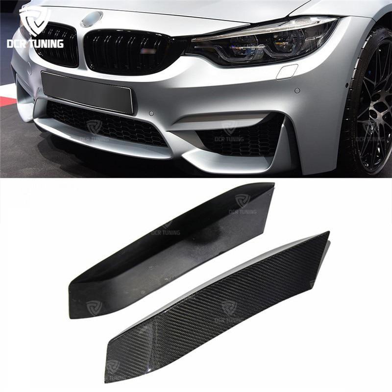 Carbon Fiber Performance Front Bumper Lip Splitters for BMW F80 M3 F82 F83 M4