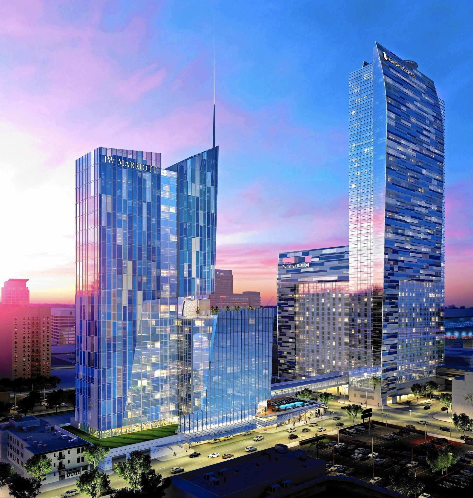 Aeg To Add 755 Rooms Marriott Complex At L A Live Hotels In Californiadowntown Los Angelesa