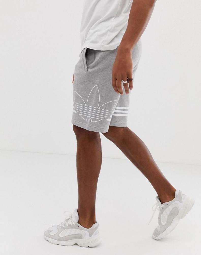 0078a5b331f9 Adidas Original Jersey Shorts Trefoil Logo Gray | adidas Originals ...