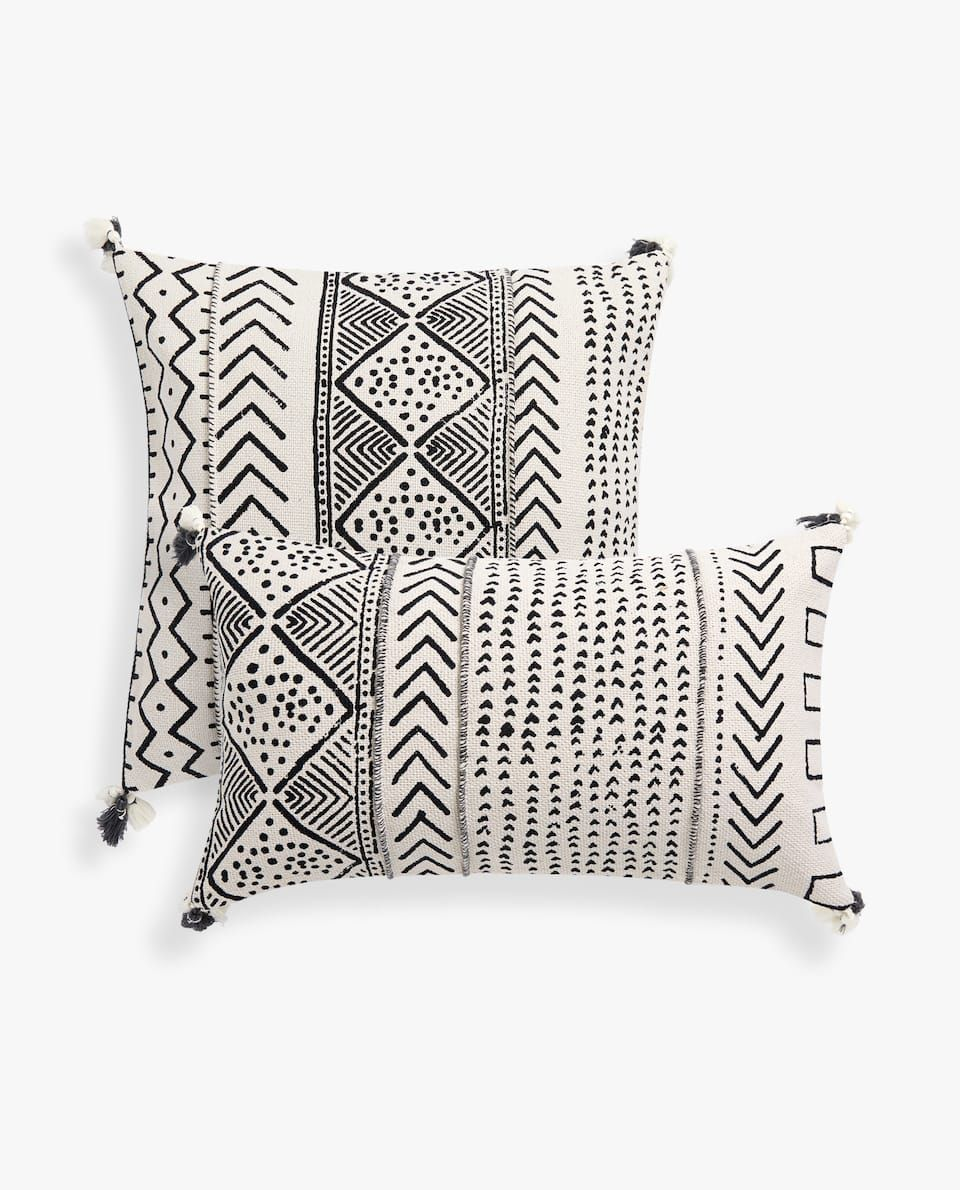 GEOMETRIC PATTERN THROW PILLOW COVER