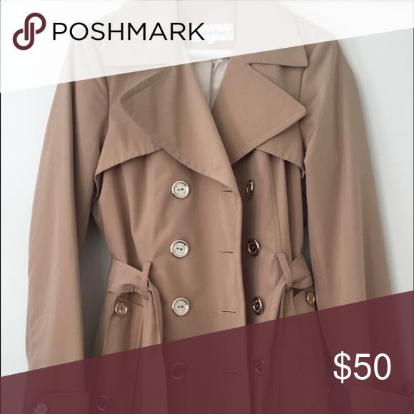 Calvin Klein coat Beige tone. In PERFECT condition . Authentic Calvin Klein Calvin Klein Jackets & Coats Trench Coats
