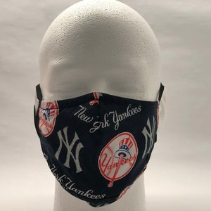 New York Yankees Face Mask 100 Cotton Authentic Adjustable Nose Bridge Snug Chin Fit Washable Double Layer With Filter Insert In 2020 Face Mask Snug Mask