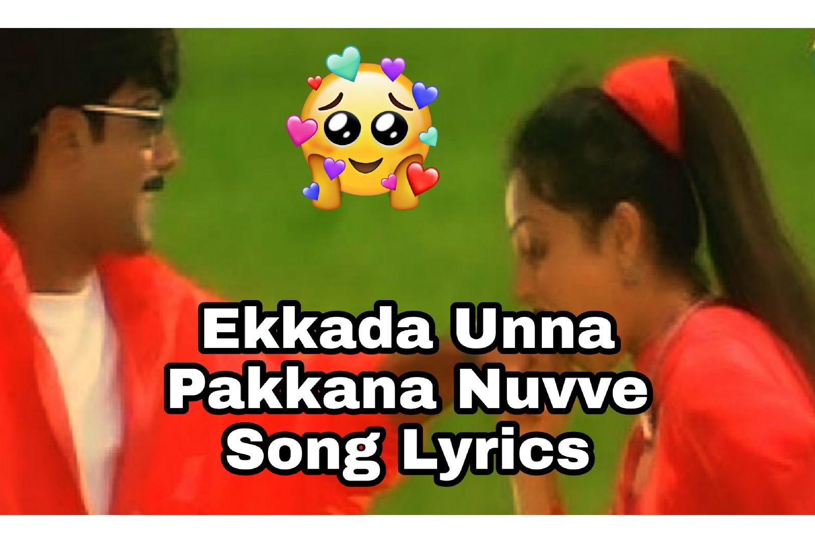 Ekkada Unna Pakkana Nuvve Song Lyrics In 2020 Song Lyrics Lyrics Singer