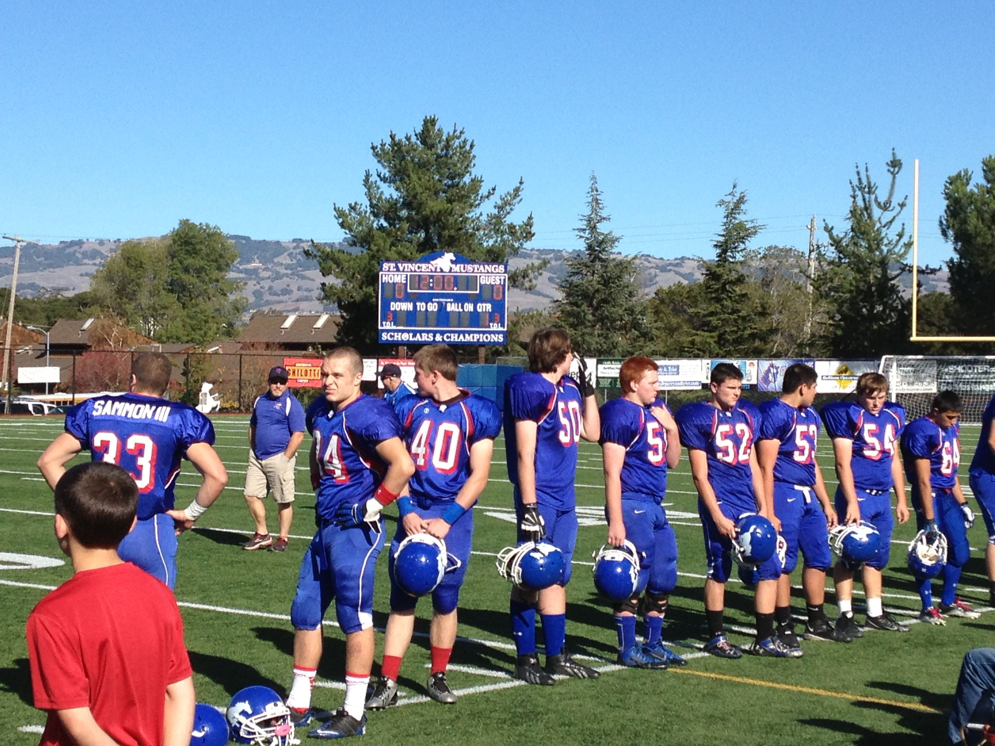St Vincent Mustangs Football Game Sport Event Football Games