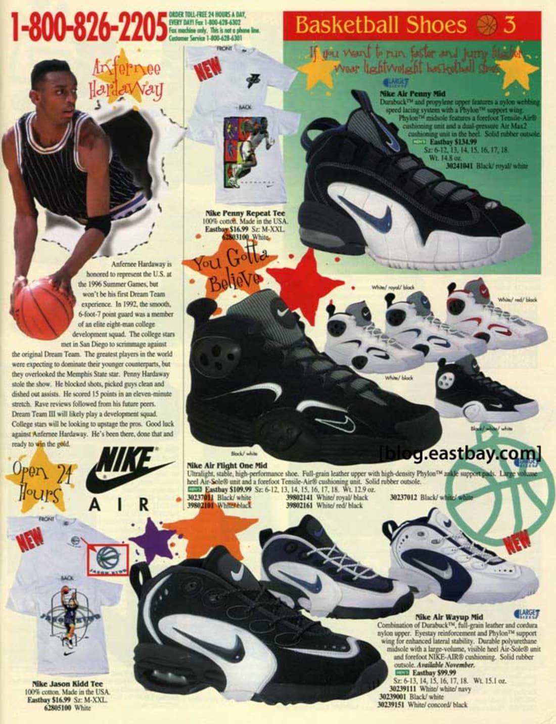 1050f30693cc 25 Classic Sneakers From Vintage Eastbay CatalogsNike Air Flight One ...