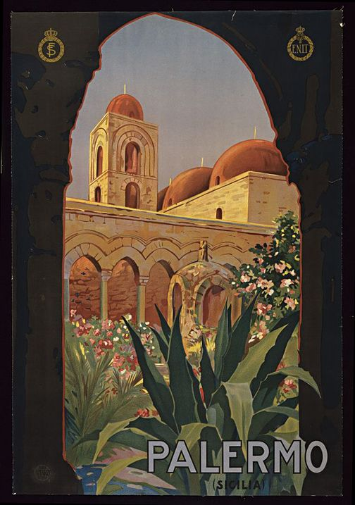Palermo Italy Vintage Travel Poster | Travel Posters