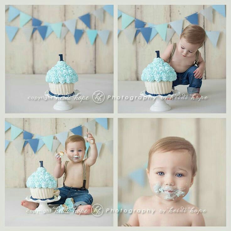 Pin by Kaitlyn Wilson on kid photo ideas Smash cake boy