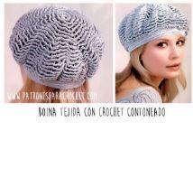 88287e7d6ea78 Boina crochet para mujer paso a paso