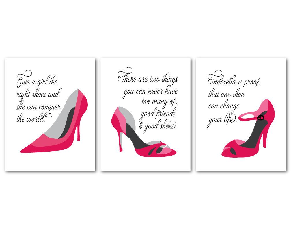 Fashion wall art trio fashion shoes fashion quotes room fashion wall art trio fashion shoes fashion quotes room decor good friends amipublicfo Gallery